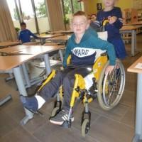 Zion in de rolstoel.